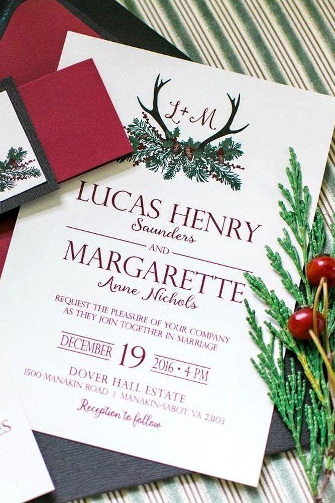 reception information on back of wedding invitation%0A Elegant Winter Wedding Invitations     See more  http   www weddingforward