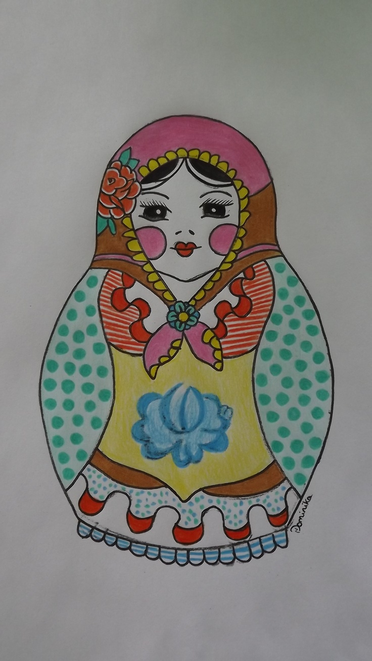 russian doll  matriochka draw