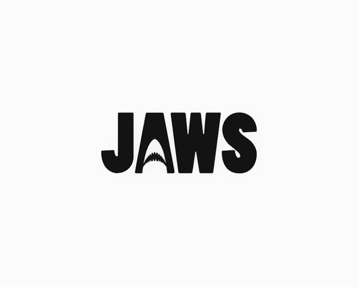 Famous Movie Titles Written Using Negative Space