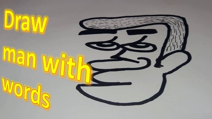 How to draw man with words into a cartoon man wordtoons