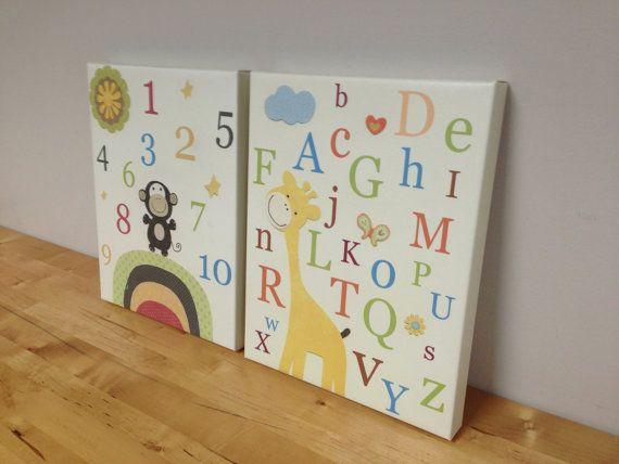 Great Baby boy Room Decor Nursery Wall Art canvas baby by DesignByMaya LeinwandKinderzimmerBaby