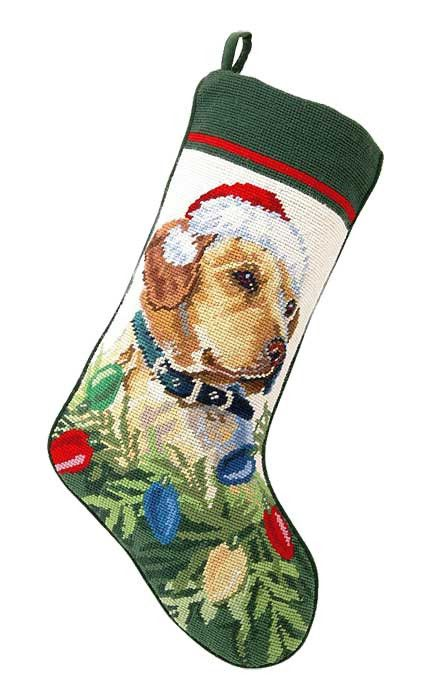 Yellow Lab Labrador Retriever Dog Christmas Stocking – For the Love Of Dogs - Shopping for a Cause