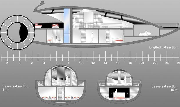 Tra i vincitori del M.Y.D.A. Domenico Musilli e Emanuela Gallerani, progettisti di una imbarcazione con ruota che reinterpreta il sistema di navigazione dei vecchi battelli senza rinunciare alla modernità delle linee.