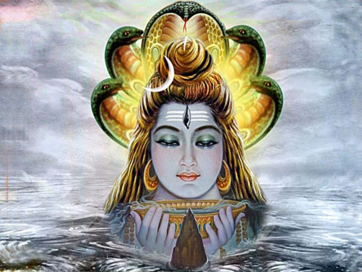 Image result for lord shiva swallowing poison