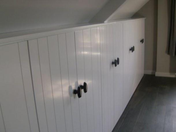 zolderkamer slaapkamer | mooie inbouw kasten Door esti