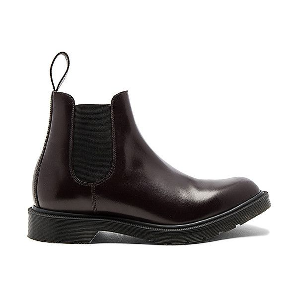Dr. Martens Made (395 CAD) ❤ liked on Polyvore featuring men's fashion, men's shoes, men's boots, boots, dr martens mens shoes, mens slipon shoes, mens slip on boots, men's pull on work boots and dr martens mens boots