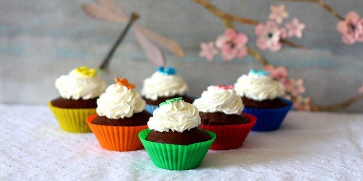 Cupcakes Vegani alla banana, latte di cocco e cacao. Una delizia per il palato senza sensi di colpa!!