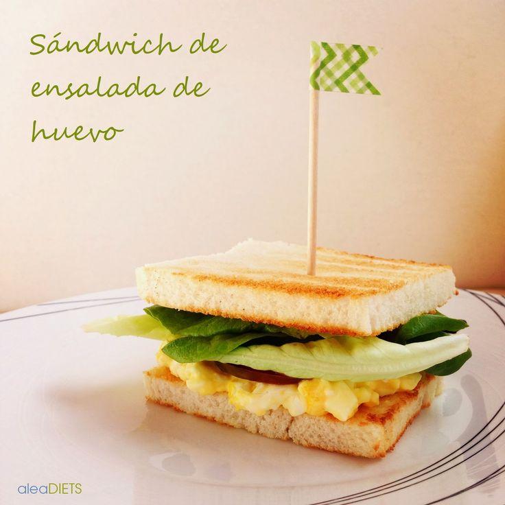 Receta del famoso sándwich americano de ensalada de huevo. Fácil, rico, barato y sano :)