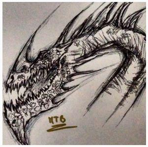 El presente dibujo original lo he desarrollado utilizando un boli bic de color negro.