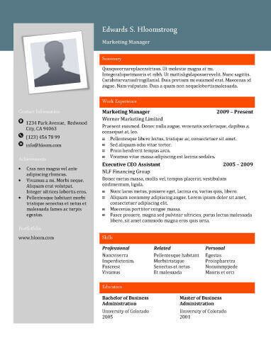 contemporary modern resume templates free download - Downloadable Resume Templates Free