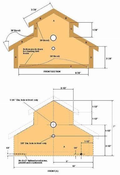 image result for free birdhouse plans and patterns birdhouses rh pinterest com