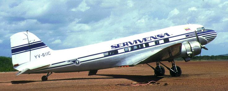 Douglas C-47B-25-DK Skytrain (YC-611C, s/n 32761) of SERVIVENSA (Servicios Aereos Avensa S.A.), crashed on approach to Canaima airport on October 2nd, 1998.