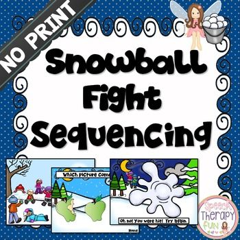 Sequencing Snowball Fight Game - No Print