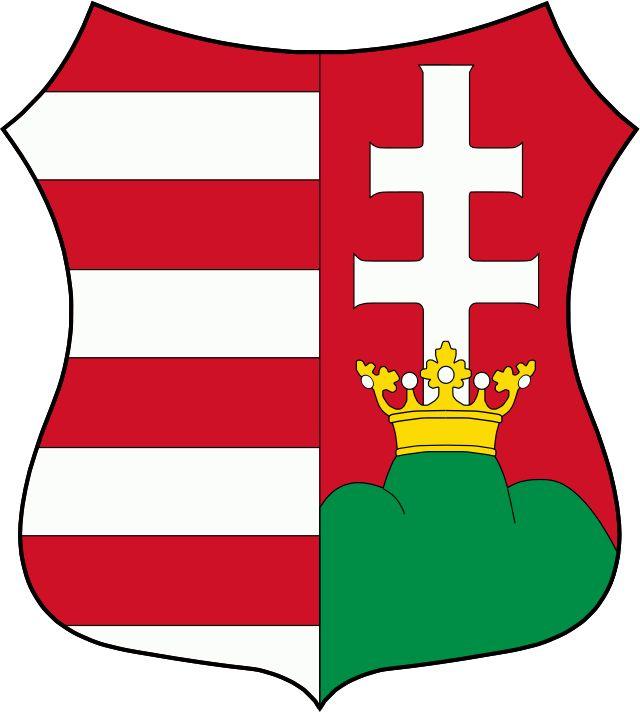 Mały herb Węgier (używany do 1949 i w latach 1956-1957)