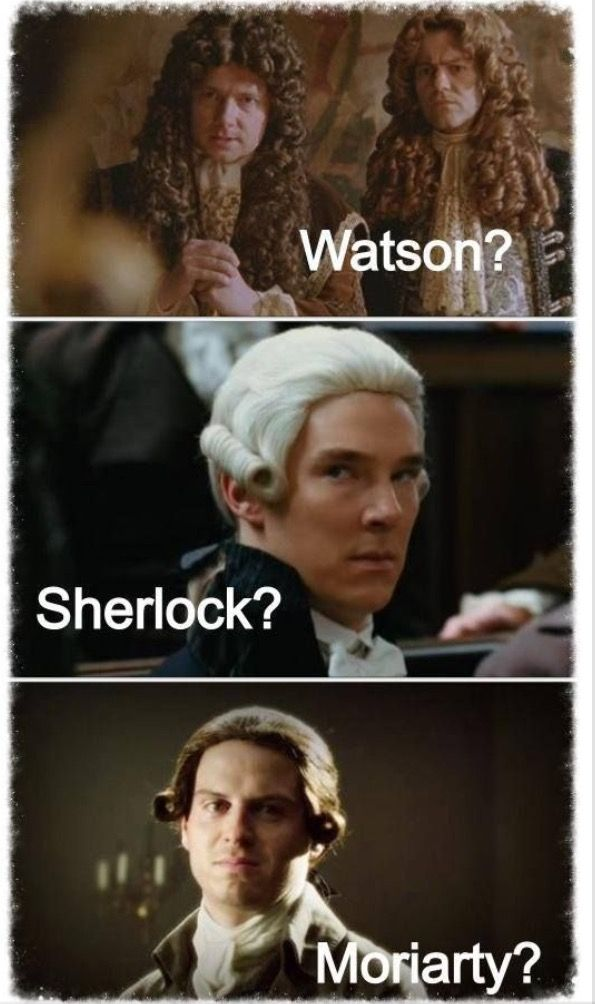 Is that Lestrade next to Watson?