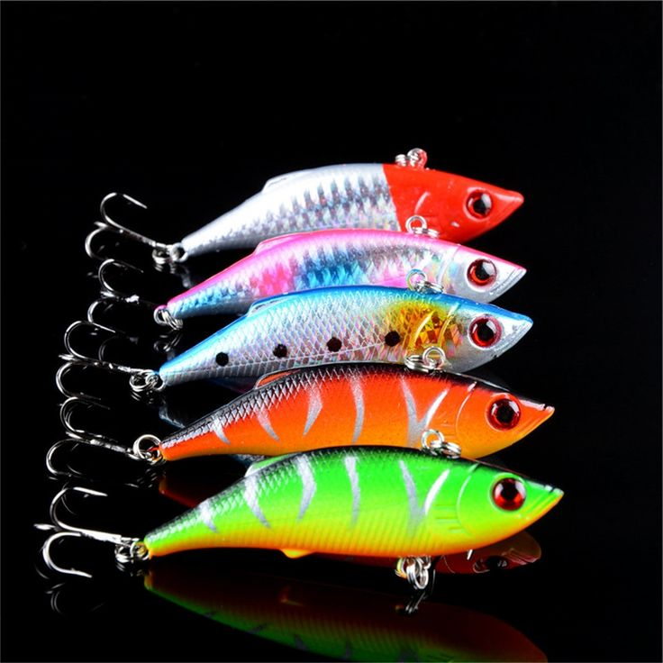 7.40$  Buy here - http://alifgb.shopchina.info/go.php?t=32425587731 - 5pcs lot winter fishing lures hard bait VIB with lead inside lead fish ice sea fishing tackle swivel jig wobbler lure 7cm/10g  #buychinaproducts