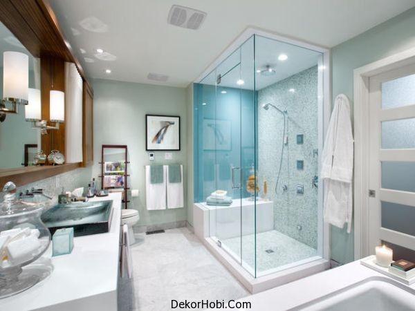 Çağdaş banyo tasarımları Cam Duşakabin Modelleri ve SPA Keyfi