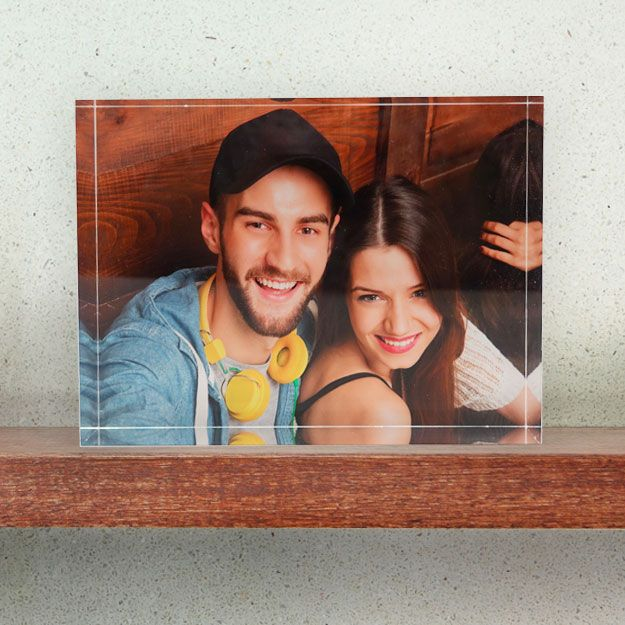 Acrylic blocks make amazing gifts? Why not get one for your partner on their special day? Consider our free standing acrylic photo blocks - a unique way to showcase your photos. #Prints #PrintsonGlass #print