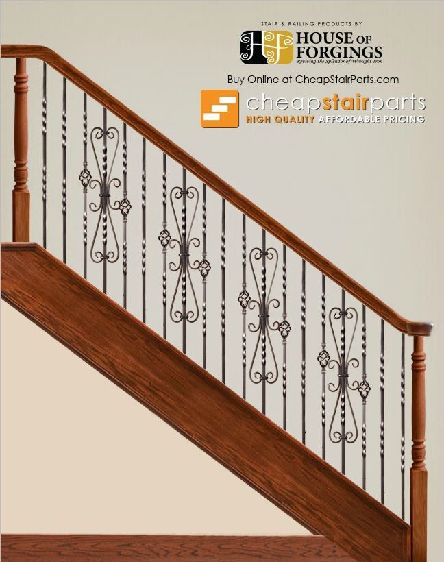 This Double Twist Iron Baluster Is Made Of Solid Wrought Iron And Features  Two Six Inch Twists Spread 6 Inches Apart.