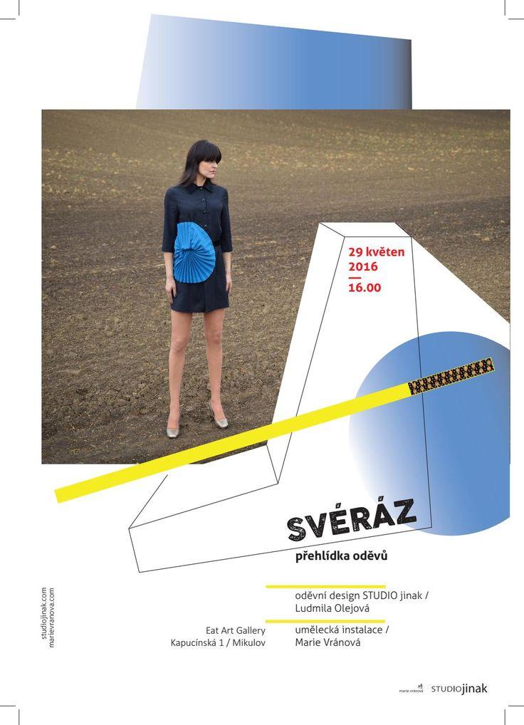 Poster for art exhibition / SVÉRÁZ in Eart Art Gallery, Mikulov.