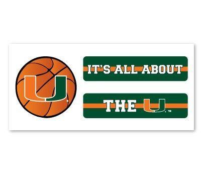 Miami Hurricanes Basketball Eyeblack