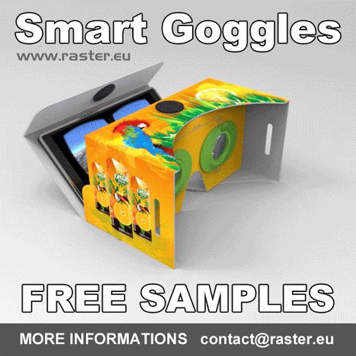 Smart Goggles - FREE SAMPLES MORE INFORMATIONS    contact@raster.eu