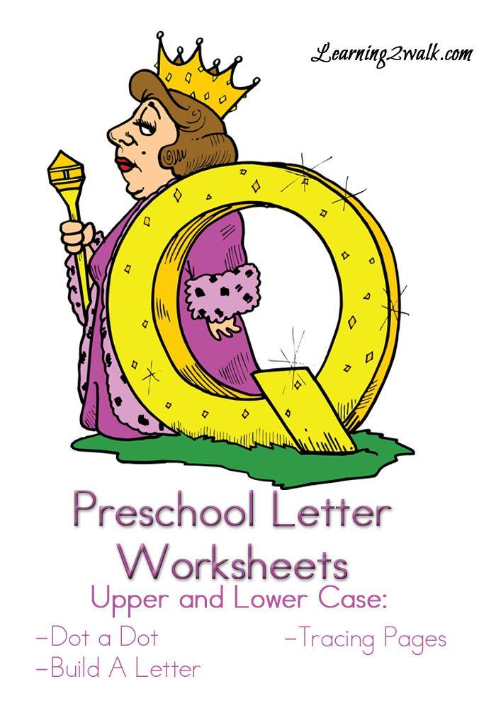 Preschool Letter Worksheets Q Home schooling Letter worksheets
