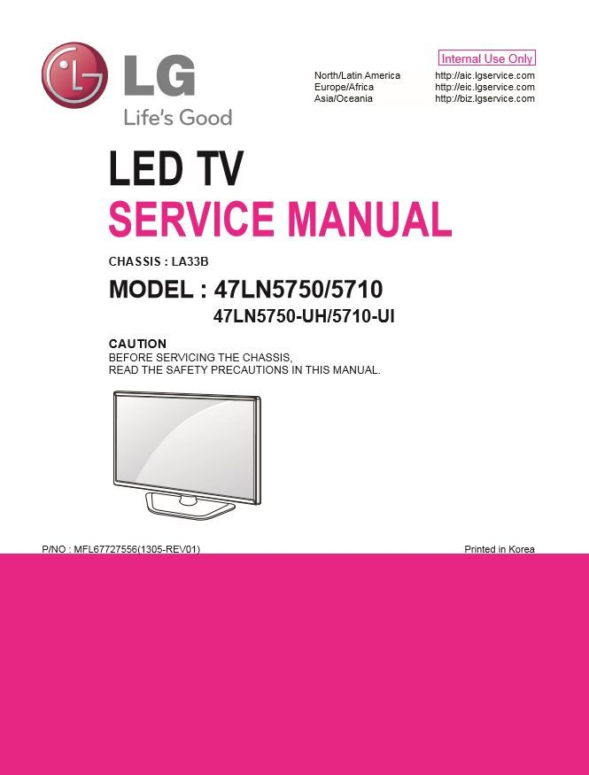 Lg 47ln5750 Uh Tv Service Manual And Technical Troubleshooting Tv Services Led Tv Repair Guide