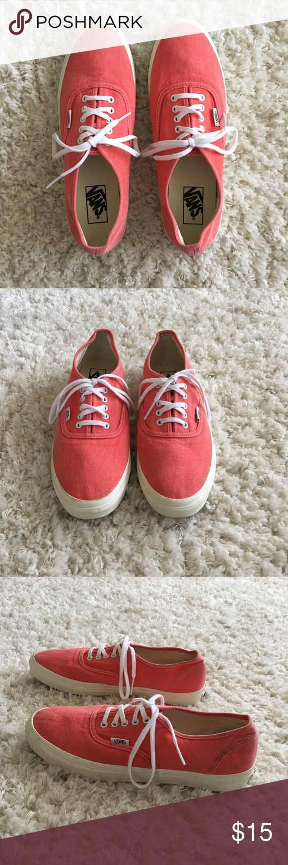 Coral Vans Women's Coral Vans, worn only a few times, size 11 Vans Shoes Sneakers