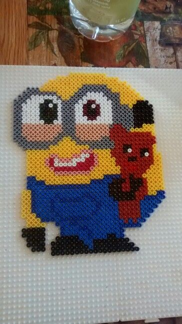 Bob minion hama beads by Tina Jørgensen