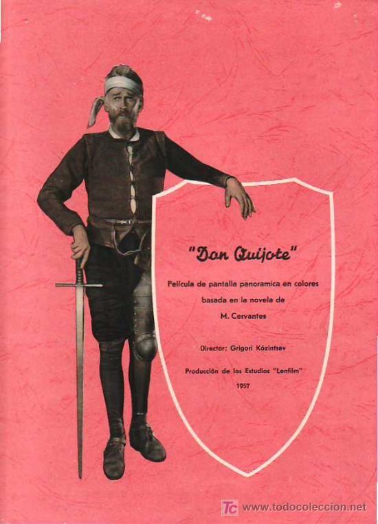 GUIA DE LA PELICULA, DON QUIJOTE, ( SEIS HOJAS)