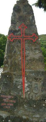 Cross of Santiago, Triacastela