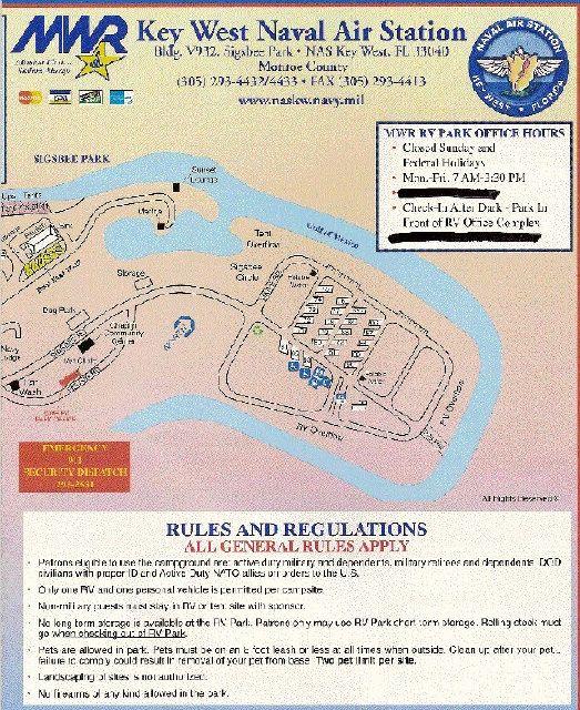 Sigsbee RV Park Naval Air Station Key West NASKW Campground