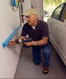 Our Tip for Saturday is: Use pool noodles in your garage to prevent dinging the walls with your car doors.
