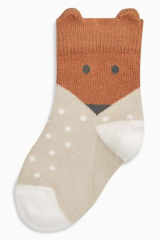 Buy Ecru/Brown Floral Socks Five Pack (Younger Girls) from the Next UK online shop