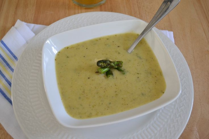 Cream of Asparagus Soup | : : clean eating : : | Pinterest