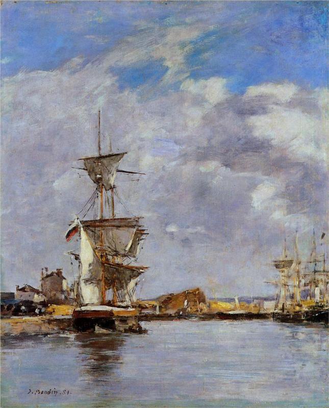 Deauville, the Harbor - Eugene Boudin, 1881