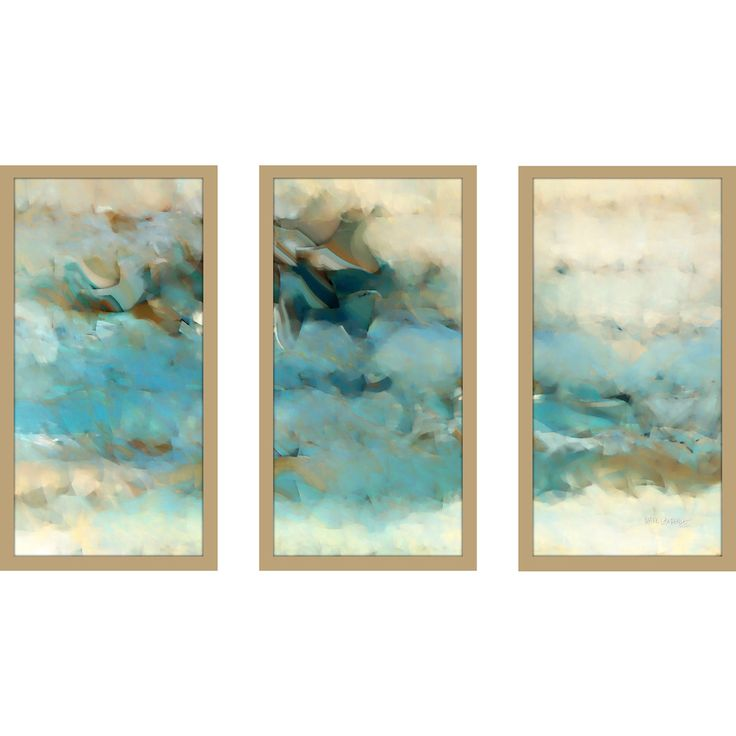 "FramedCanvasArt.com Mark Lawrence ""Ecclesiastes 1 14 Max"" Framed Plexiglass Wall Art Set of 3"
