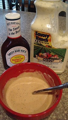 I love this simple BBQ Chicken Ranch dressing.