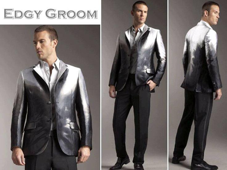 Rock Star Grooms Style A Metallic Alexander McQueen Tux Jacket