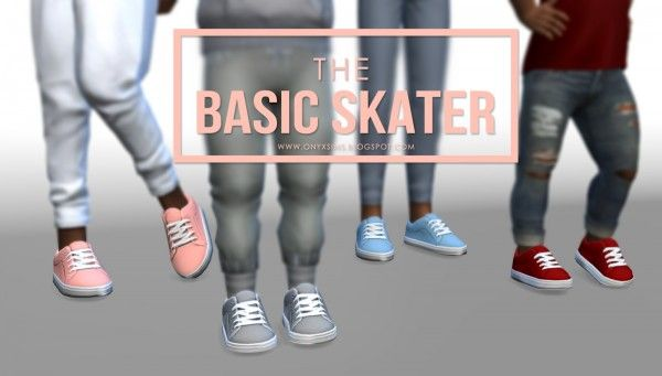 Onyx Sims: Basic Skater - Shoes for Toddlers and Kids • Sims 4 Downloads
