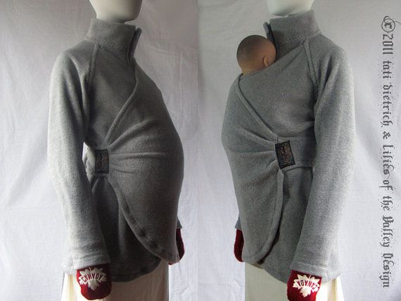 Not that I'm planning anytime soon, but this is the coolest baby holder/jacket/thing i've ever seen Maternity Coat Maternity Jacket Winter by PlusSizeClothing on Etsy, $150.00