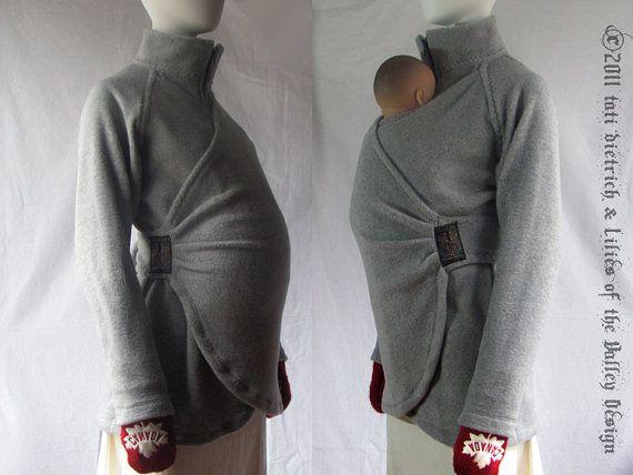 Maternity Maternity Coat Jacket Babywearing Coat by babywearing, $153.00