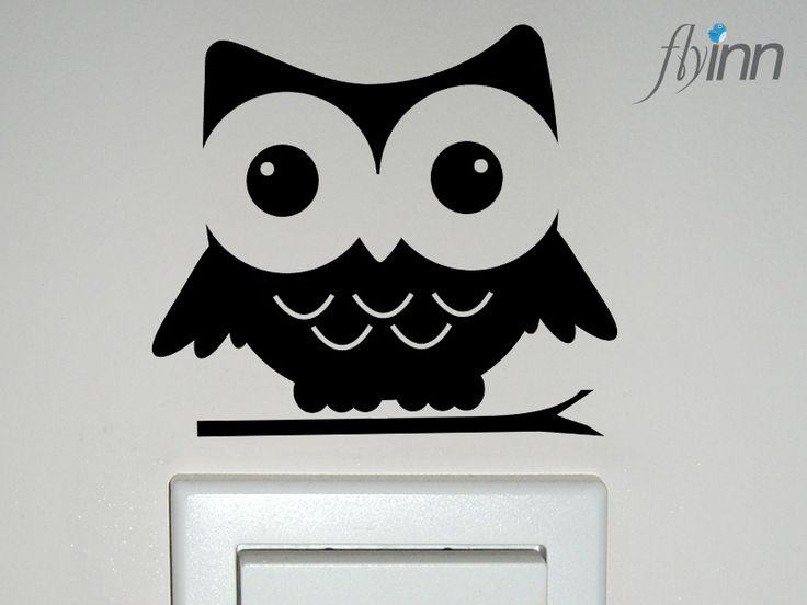 Sticker,+Wandaufkleber+*Eule+Glubschi*+von+flyinn+auf+DaWanda.com