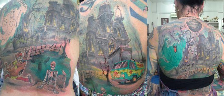 Scooby Doo Scene Tattooist: Daniel Brandt Electric Expressions Tattoo Studio Margate, QLD, Australia PH: (07) 38895966