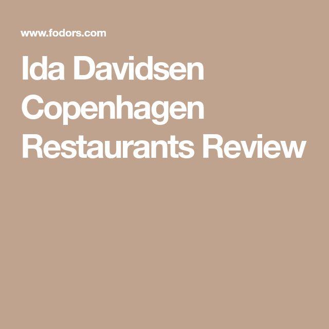 Ida Davidsen Copenhagen Restaurants Review