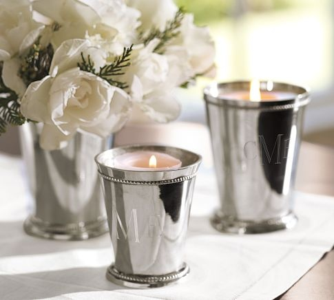 Silver-Plated Julep Candle Pot, Small