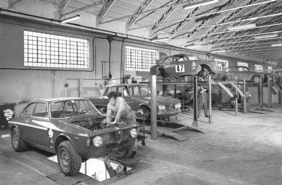 AUTODELTA - finest Alfa Romeo car tuning: inside manufacturing hall