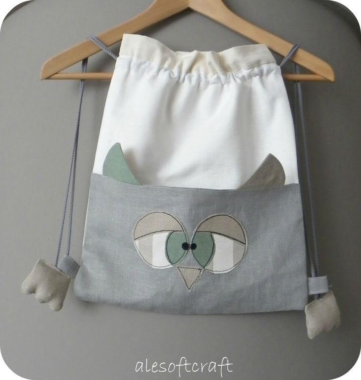 Baby Accessories HAHA cute 3D owl drawstring backpack - would make a cute gift bag, with the litt...
