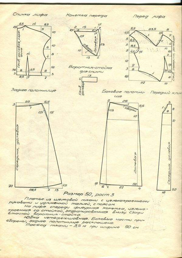 1940s dress pattern draft